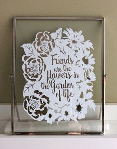 Papercut for Friends. Paper Cutting, Friends, Unique Jewelry, Frame, Handmade Gifts, Etsy, Amigos, Picture Frame, Kid Craft Gifts