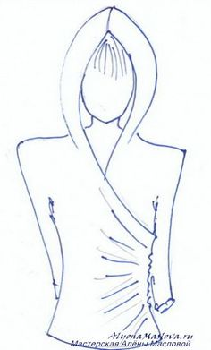 Hoodie draped top ,, patterns instructions, use Google Translate