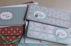 More money/gift card holders inside punched with envelope punch board