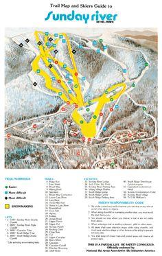 Early Skiers At Barker Lodge Vintage Sunday River Pinterest - Vintage ski maps