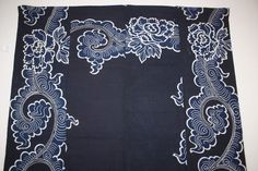 Japanese  thick Indigo dye cotton tsutsugaki futon cover Tang grass