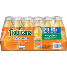 Tropicana Orange Juice, 10 Ounce Pack of 24 for sale online Kid Drinks, Beverages, How To Make Orange, Juicing Benefits, Juicing For Health, Grapefruit Juice, Refreshing Drinks, Juice Bottles, Orange Juice
