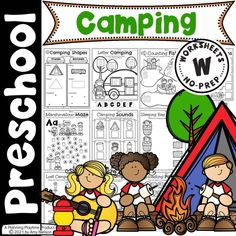 Camping themed Math & Literacy activities for Preschool. - Pre-k Camping Worksheets