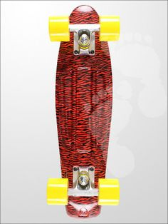 Edge Series Prints Retro Cruiser Skateboard 22inch Safari Print Red | twobarefeet.co.uk