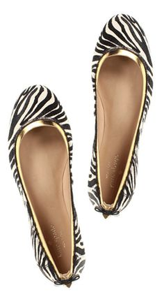 Kate Spade- I don't normally go for zebra print, but these shoes are so cool!