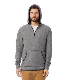 Alternative 43251 - Eco-Teddy Outdoor Quarter-Zip Hoodie Zip Hoodie, Pullover, Bungee Cord, Cotton Fleece, Alternative Outfits, Hoodies, Sweatshirts, Wholesale Clothing, Gray