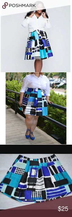Printed Circle Skirt Fashionable printed Circle skirt by Lane Bryant these units are brand new are machine washable are 100% polyester please reference to size chart listed above comes with our Boutique sales tag only Lane Bryant Skirts Circle & Skater