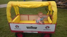 Goodwood Festival Pull along Trolley Baby sleeps in Trolley