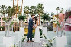 Host your micro wedding in California, like on a cliff overlooking the ocean, in a lush garden, and more! Stylish Micro Wedding Venues in California. Venue Pictured: The Saguaro Palm Springs Palm Springs, CA
