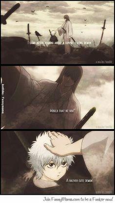 Gintama - child Gintoki meeting Shouyo Sensei for the first time