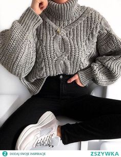 Daily Wild Color High Collar Loose Sweater Daily Wild Color High Collar Loose Sweater – stylealice The post Daily Wild Color High Collar Loose Sweater… Winter Outfit For Teen Girls, Casual Winter Outfits, Winter Fashion Outfits, Sweater Fashion, Look Fashion, Trendy Outfits, Womens Fashion, Turtleneck Fashion, Feminine Fashion