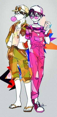 Jyushimatsu & Todomatsu Anime People, Anime Guys, Manga Anime, Kawaii Anime, Cool Anime Pictures, Sans Art, Ichimatsu, Drawing Techniques, Character Illustration