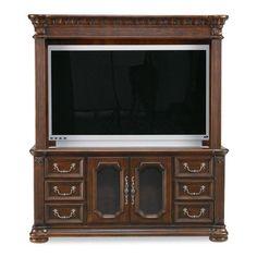 Wynwood Furniture Granada 64'' TV Stand in Cordillera Pine