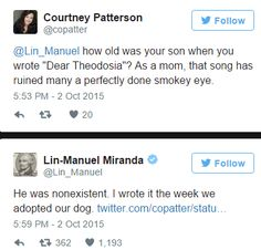 Hahaha Lin Manuel Miranda is the best