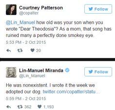 Hahaha Lin Manuel Miranda is the best