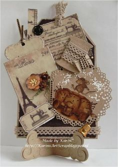 Vintage Tag with the House mouse