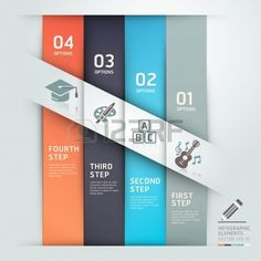 Modern education step options template origami style  Vector illustration  can be used for workflow layout, diagram, web design, infographics, banner template  Illustration
