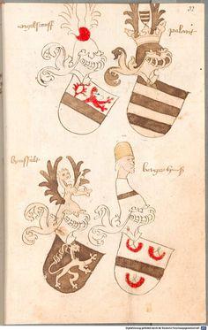Bruderschaftsbuch des jülich-bergischen Hubertusordens Niederrhein, um 1500 Cod.icon. 318  Folio 32r