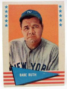babe ruth baseball card | 1961 FLEER BABE RUTH #75 BASEBALL CARD