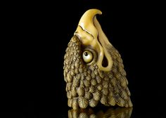 The Head of a Hawk Netsuke