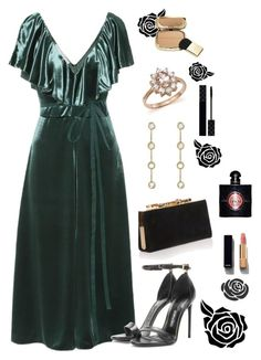 """Monica's wardrobe: outfit 16"" by maryvassilieva on Polyvore featuring Valentino, Jimmy Choo, Tom Ford, Jennifer Meyer Jewelry, Bloomingdale's, Dolce&Gabbana, Chanel, Yves Saint Laurent and Gucci"