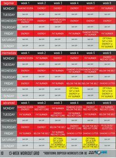 DDP Yoga schedule