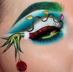 Make-up ich Herz Schokolade, Make-up unter Augenkreis . - makeup i heart chocolate, makeup under eye circles how to get rid, makeup arti… Make-up ich He - Disney Eye Makeup, Eye Makeup Art, Eyeshadow Makeup, Eyeliner, The Grinch Makeup, Maybelline Eyeshadow, Eyeshadow Ideas, Pink Eyeshadow, Makeup Box