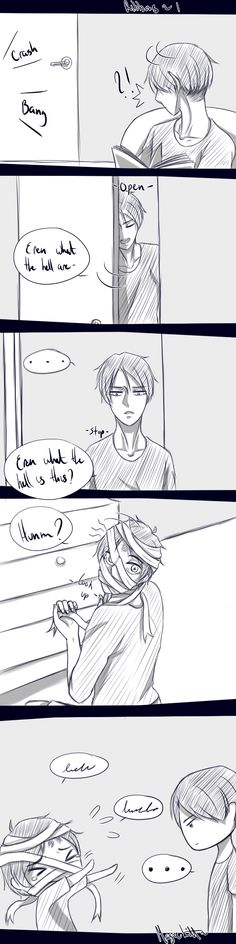 Ribbons - 1 by magickitt || Levi x Eren || The rest is in my RivailleEren Long DJs/Panel/Story board! :3