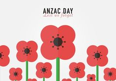 Lest We Forget Anzac Background Vector