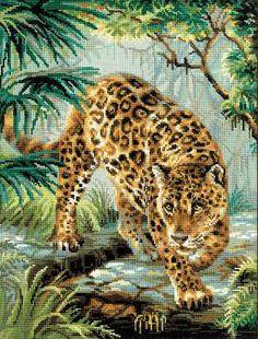 Owner of the jungle - borduurpakket - Riolis