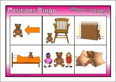 Positions bingo (SB4748) - SparkleBox This is a fun way to teach position word vocabulary to students.