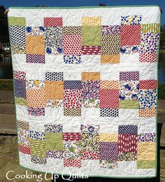 """""""Looking Glass"""" quilt made by Beth / Cooking Up Quilts; pattern by Cheryl of Meadow Mist Designs"""