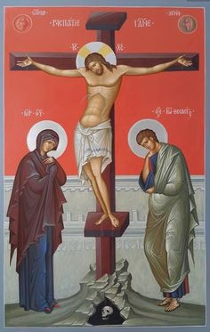 Artwork of the Crucifixion of Jesus Christ Religious Images, Religious Icons, Religious Art, Byzantine Icons, Byzantine Art, Greek Icons, Crucifixion Of Jesus, Religion, Christian Artwork