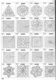 Crochet Granny Square Pattern Beautiful 20 Ideas For 2019 - kolye Motifs Granny Square, Crochet Motifs, Granny Square Crochet Pattern, Crochet Blocks, Crochet Diagram, Crochet Stitches Patterns, Crochet Chart, Crochet Squares, Love Crochet