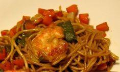 Recette du sauté de crevettes et pâtes chinoises au macis