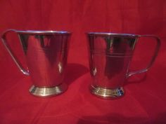 Pair Of Small Silver Plated Tankards by VintageRetroTreasues on Etsy