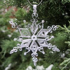 Holiday Harmony Quilled Snowflake Ornament by QuillyNilly on Etsy, $13.95
