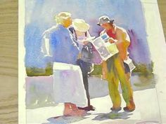 Painting a watercolour: Still looking - YouTube