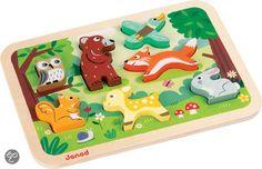 bol.com | Janod Chunky Puzzel Bosdieren | Speelgoed