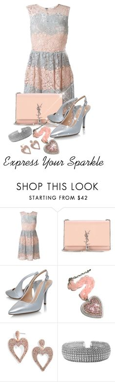 """Coral & Peach Contest # 2"" by shamrockclover on Polyvore featuring RED Valentino, Yves Saint Laurent, MICHAEL Michael Kors, Tarina Tarantino and BaubleBar"