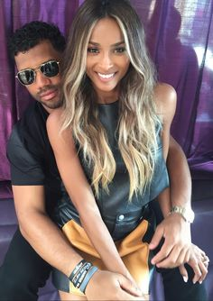 Ciara and Russell Wilson Just Tied the Knot at a Castle in England - Modernes Ciara Style, Ciara Wilson, Ciara And Russell Wilson, The Knot, Ciara Hair Color, Hair Inspo, Hair Inspiration, Dark Brunette Hair, Ciara Blonde Hair