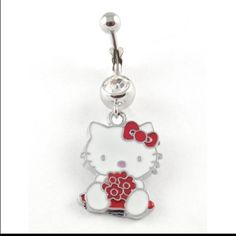 Hello Kitty belly button ring