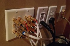 Banana Plug Wall Plate Inspiration 1 Hdmi Port Decora Insert With 4 Pairs Of Banana Plug Binding Post Inspiration