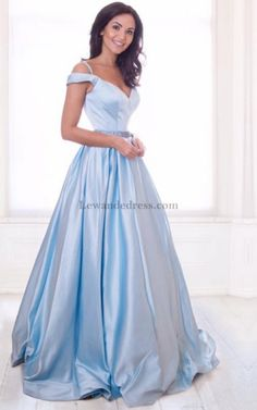 Satin Off Shoulder Sweetheart Beaded 51124 Blue Prom Dress Long  Sophisticated Dress 862d5ac009e8