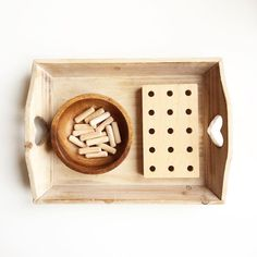 Montessori practical life tray