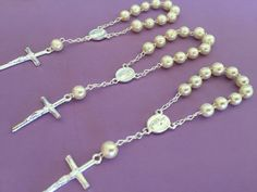 25pc Baptism Favors crystal off white pearls/ by WEDDINGLASSOS