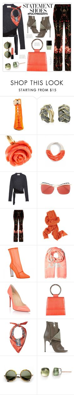 """#PolyPresents: Statement Shoes"" by theseapearl ❤ liked on Polyvore featuring Privileged, Bling Jewelry, Fairchild Baldwin, 3.1 Phillip Lim, Roberto Cavalli, Ann Demeulemeester, Gucci, Christian Louboutin, Andrea Pfister and Pendleton"