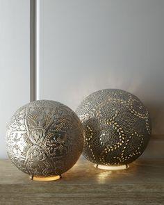 Marrakech Round Lamps / Horchow. Love <3