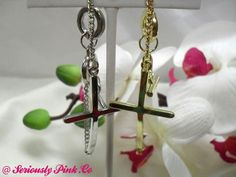 Cross chain loop lock bracelets in silver and gold...$1.00 at Seriously Pink