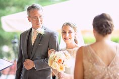 Wedding at Villa Christina in Atlanta, Georgia by www.oncelikeaspark.com.    Father of the bride and bride during wedding ceremony.